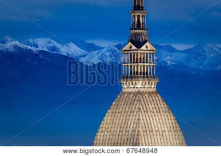 Turin (torino), Mole Antonelliana And Alps