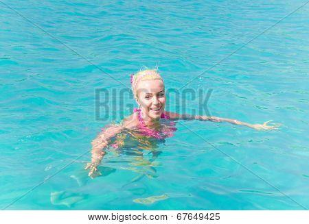 Carefree Bathing Graceful Relaxing