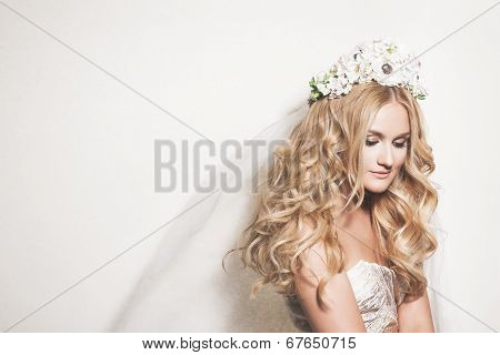 Portrait Of Young Gentle Bride