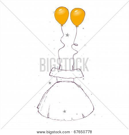 Sketch - strappy dress