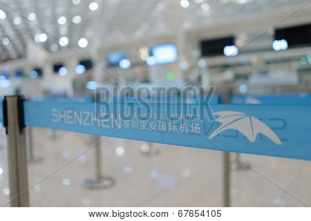 SHENZHEN - APRIL 16: airport belt on April 16, 2014 in Shenzhen, China. Shenzhen Bao'an International Airport is located near Huangtian and Fuyong villages in Bao'an District, Shenzhen, Guangdong