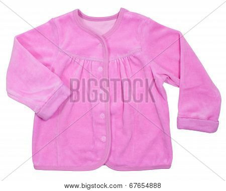 Baby pink loose jacket isolated on a white