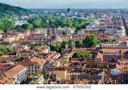 Turin (torino), aerial view