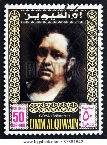 Postage Stamp Umm Al-quwain 1967 Francisco Goya, Self-portrait