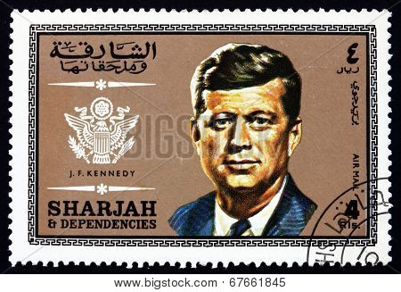 Postage Stamp Spain 1969 John Fitzgerald Kennedy, Us President
