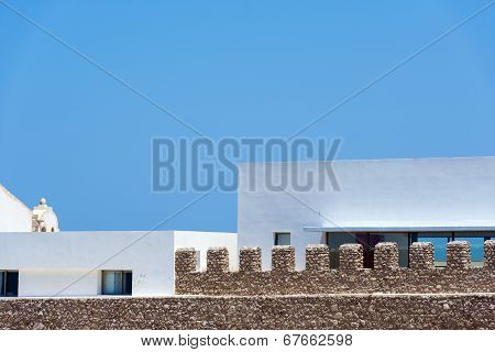 Inner Building Of Sagres Fortress Complex In Portugal.