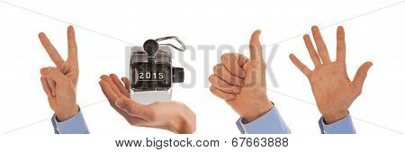 Hands Figuring The Year 2015