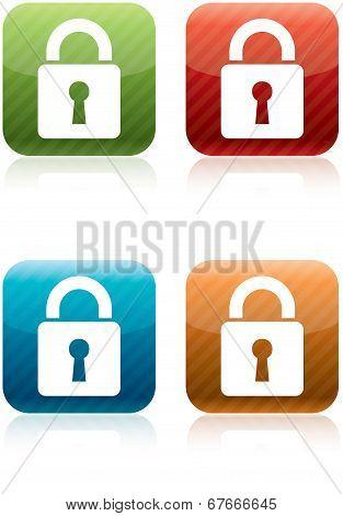 Padlock Security Icons