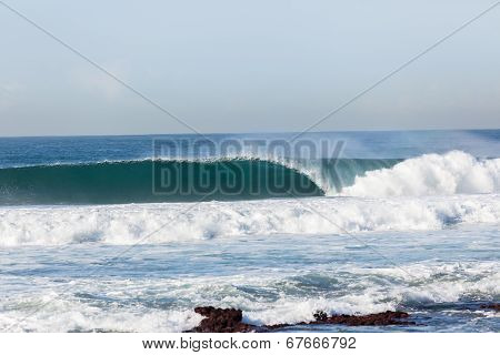 Wave Crashing Hollow Blue Power