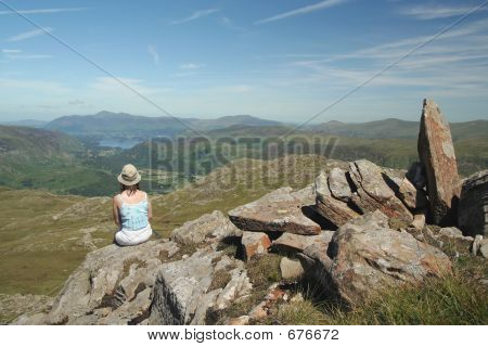 Woman At Rest In Lake District