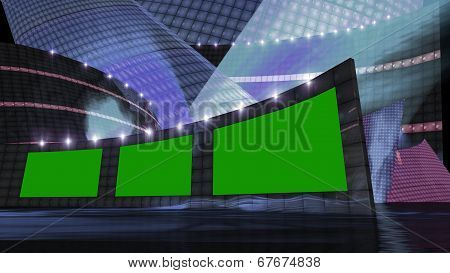 Entertainment News Virtual Set  Blue