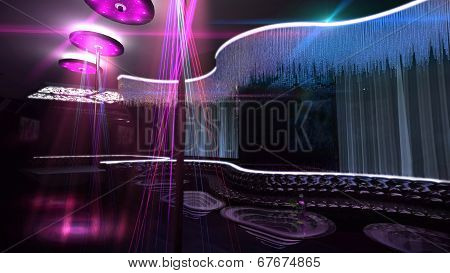 Karaoke Nightclub Spotlight Blue