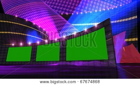 Entertainment News Virtual Set Purple