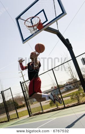 Basketball Player Layup