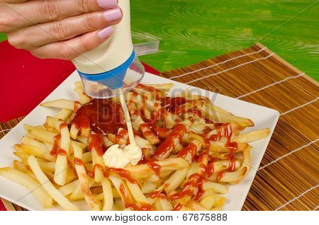 Mayonnaise On Fries