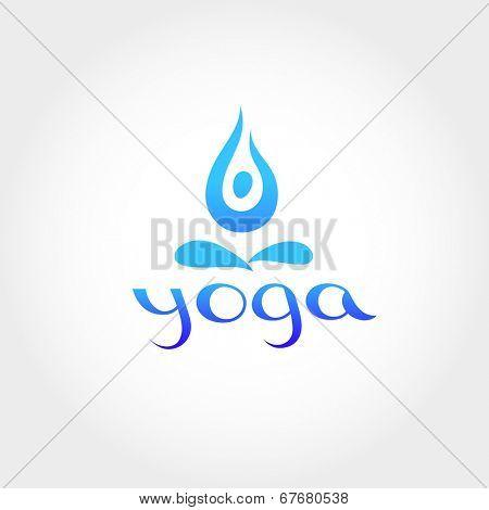 Yoga - sign. Lotus posture. Vector image.