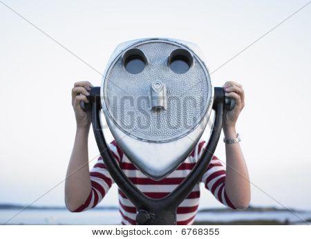 Woman Behind Telescope