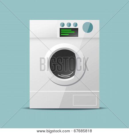Washing machine flat vector design