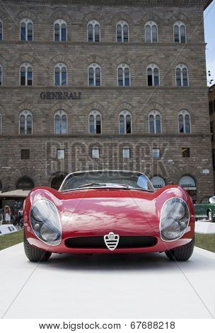 FLORENCE, ITALY - JUNE 15, 2014: Alfa Romeo 33 Stradale Prototipo