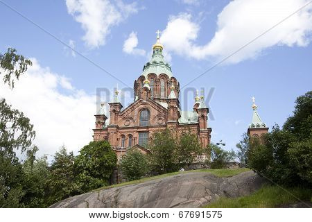 Uspenski Cathedral On Rock In Helsinki