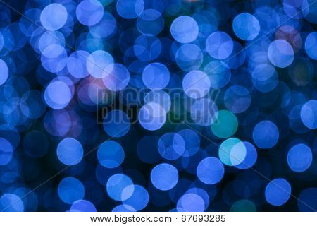 Abstract Circular Boken Nigth Background