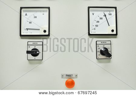 Close up of an Electric meter,Electric utility meters for an apartment complex or offshore oil and g