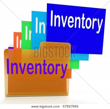 Inventory Files Indicates Paperwork Document And Folder