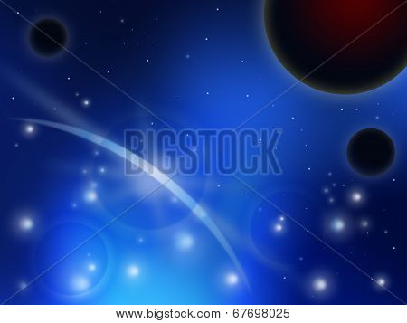 Space Stars Represents Solar System And Background