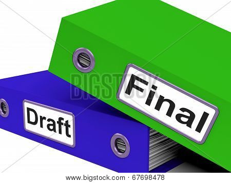 Final Draft Represents Document Key And Complete