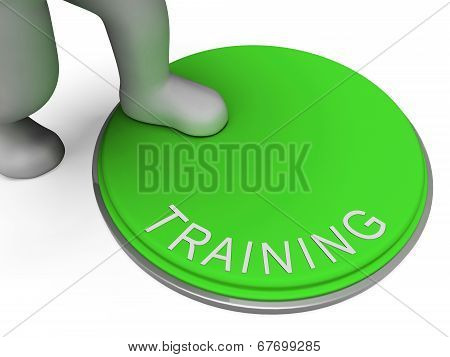 Switch Training Indicates Learn Education And Button