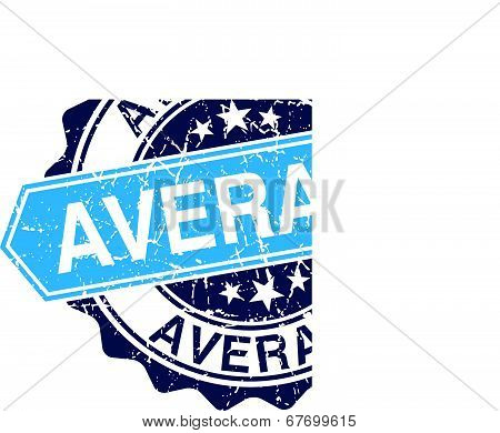 Average Grungy Stamp Isolated On White Background