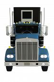 foto of truck-stop  - Semi Truck Front Isolated 3D Illustration - JPG