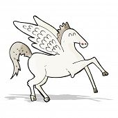 stock photo of pegasus  - cartoon pegasus - JPG