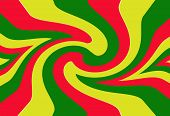 foto of rasta  - Red yellow green rasta flag for background - JPG