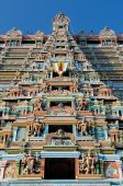 stock photo of trichy  - Srirangam Hindu Temple in Trichy - JPG
