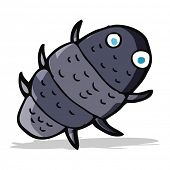 stock photo of woodlouse  - cartoon bug - JPG