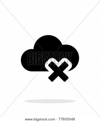 Delete cloud simple icon on white background.