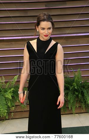 LOS ANGELES - MAR 2:  Emilia Clarke at the 2014 Vanity Fair Oscar Party at the Sunset Boulevard on March 2, 2014 in West Hollywood, CA