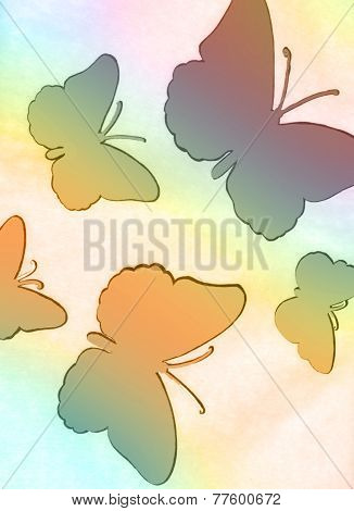 Abstrct Page Of Butterflies
