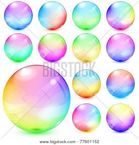 Colorful Opaque Glass Spheres