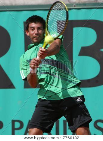 Jorge Aguilar (chi) em Roland Garros 2010