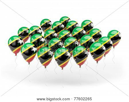 Balloons With Flag Of Saint Kitts And Nevis