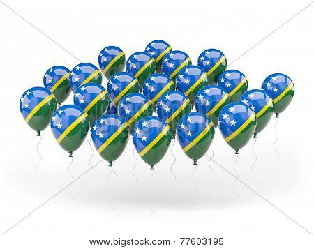 Balloons With Flag Of Solomon Islands