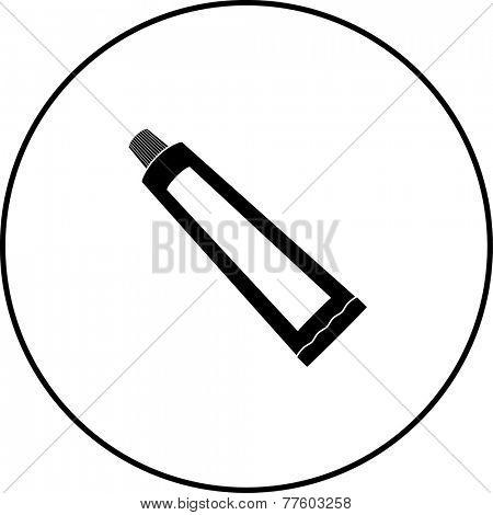 toothpaste tube symbol