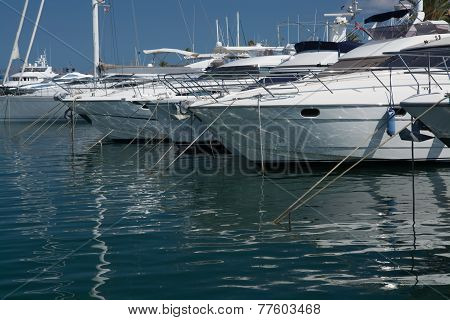Yachts And Mast Reflection