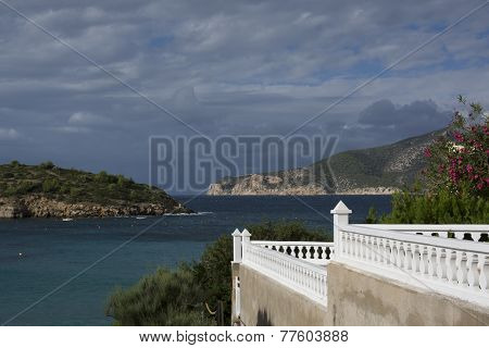 White Terrace With A View To Dragonera, Sant Elm, Majorca.