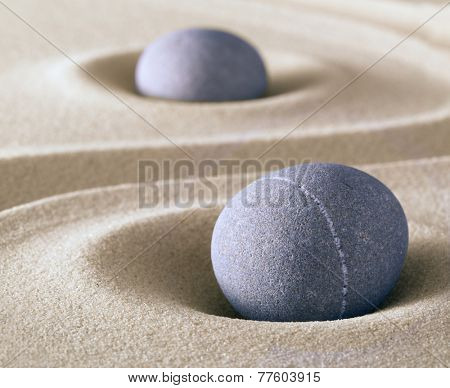 zen meditation stone balance and harmony sheng fui and tao buddhism