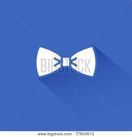 Flat long shadow bow tie icon