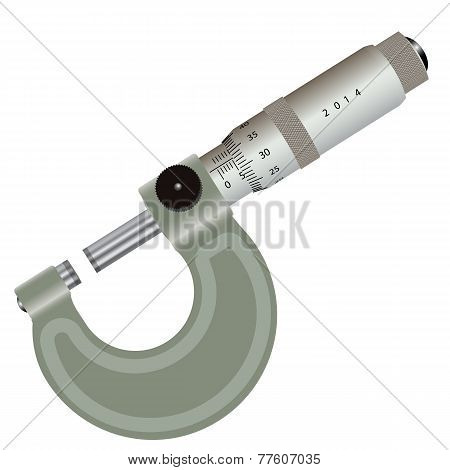 micrometer isolated on a white background