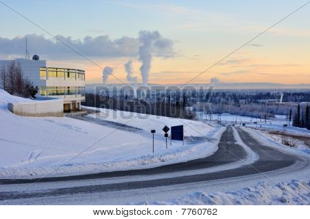 University of Alaska Fairbanks at Sunset